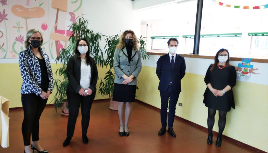 Il Ministro Stefani in visita al centro di Vicenza